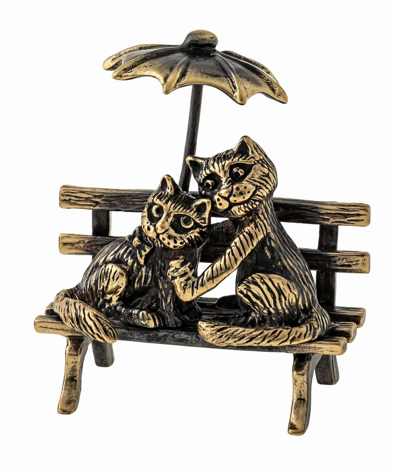 Коты Пара с зонтом без подставки 1383.1