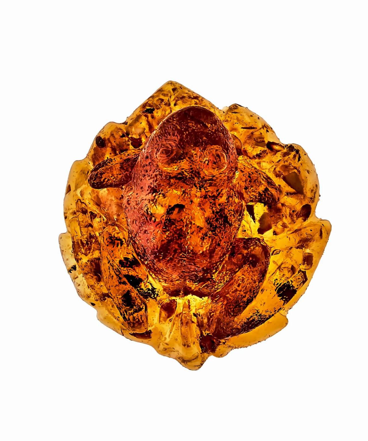 Лягушка средняя янтарная 1390