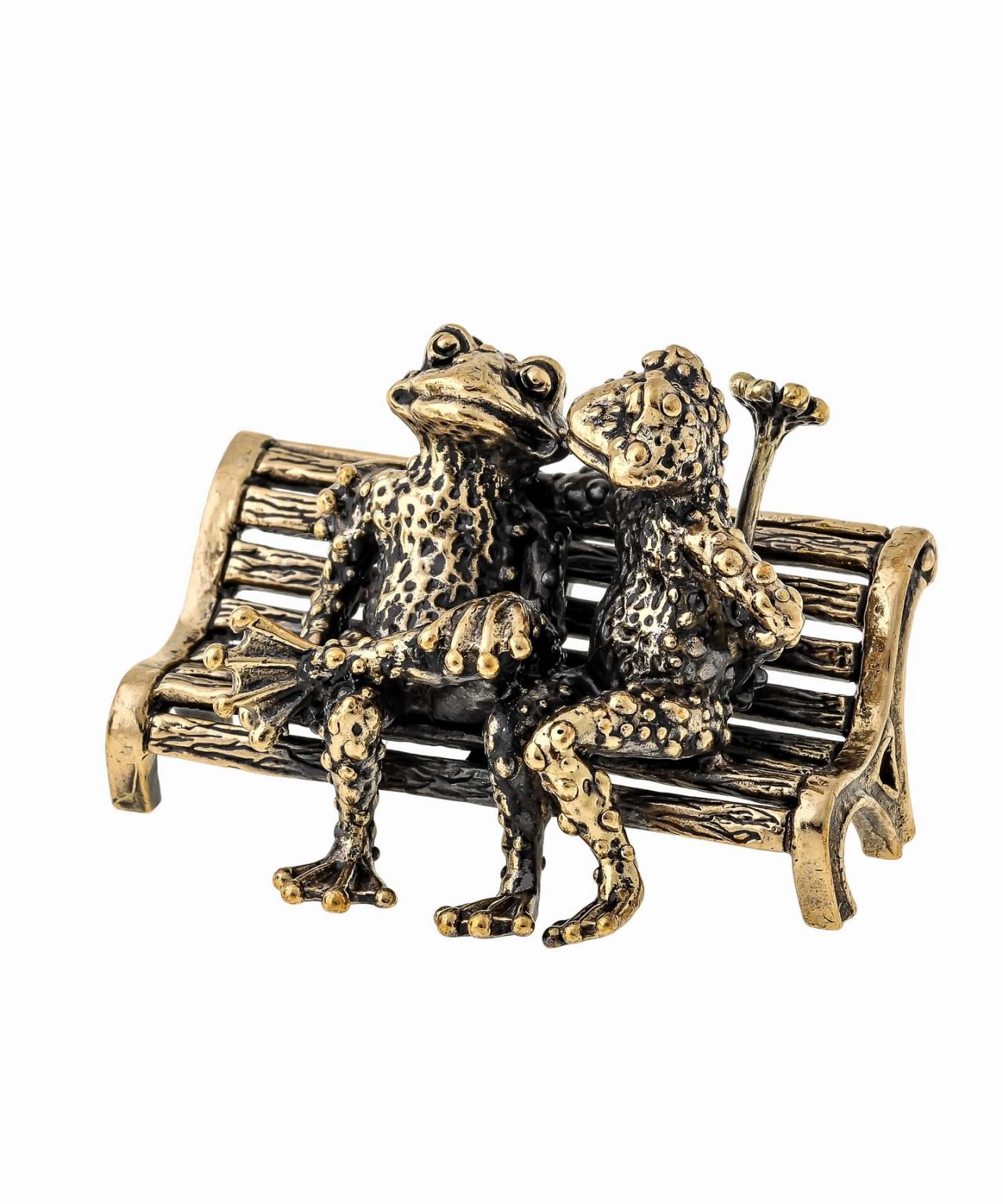 Лягушки на скамейке без подставки 1400.1