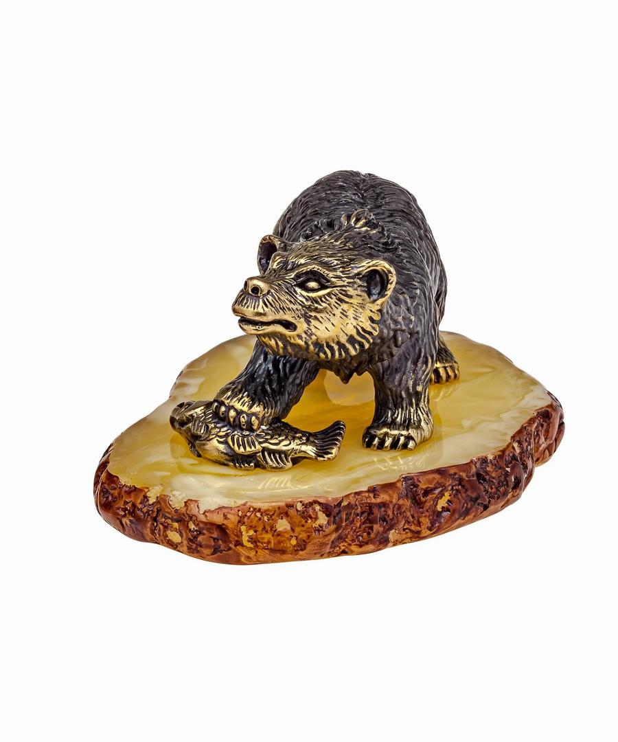 Медведь Бурый на подставке 1075