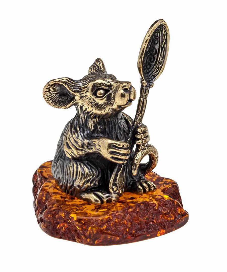 Мышь Герман с ложкой 1037