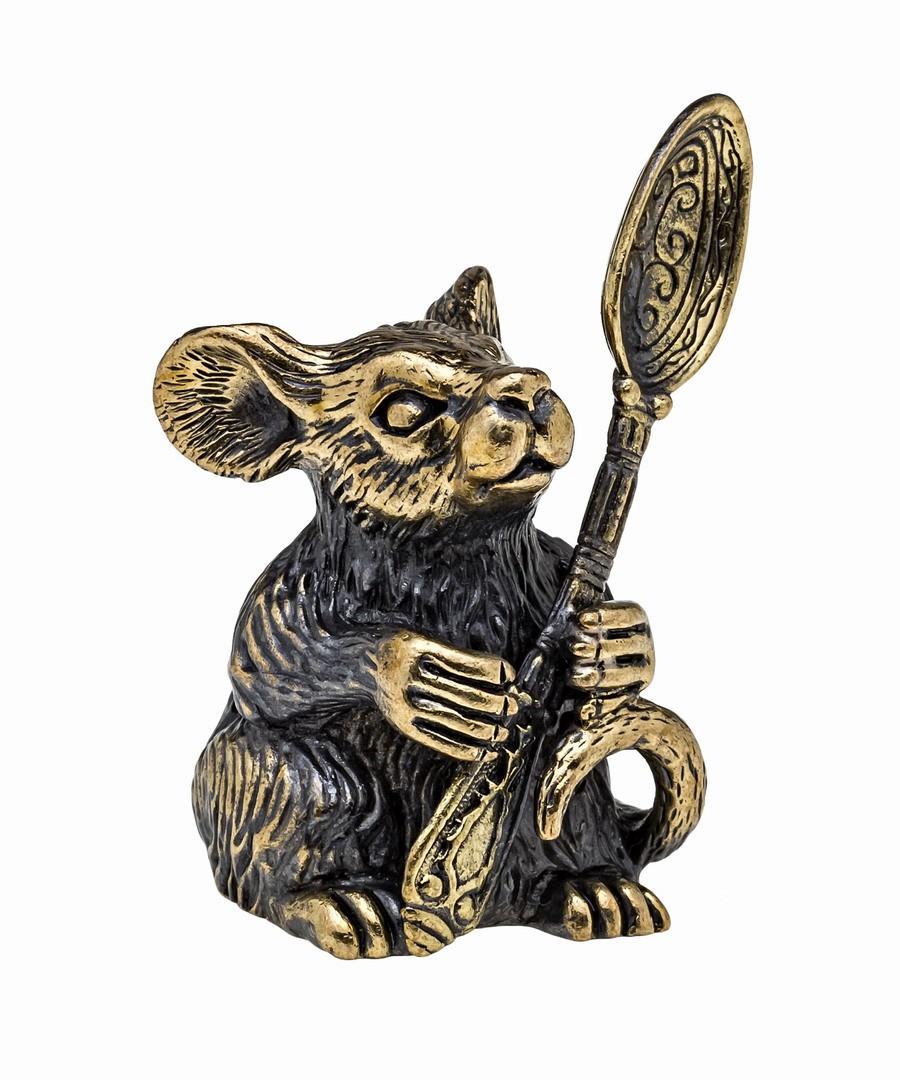Мышь Герман с ложкой без подставки 1037.1