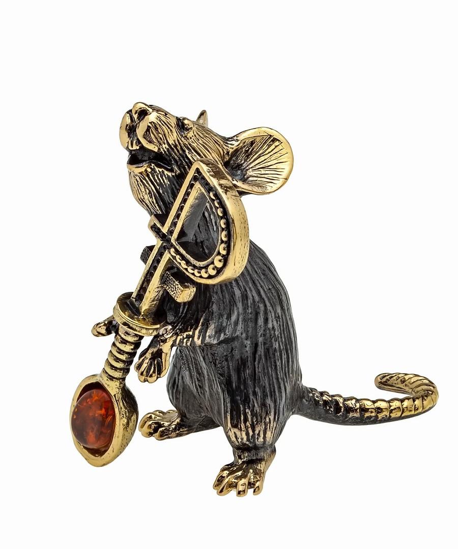 Мышь с ложкой Рубль без подставки 1100.1