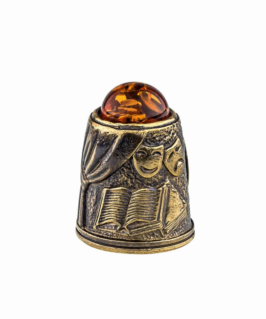 Наперсток Чехов А.П. с кабошоном 869