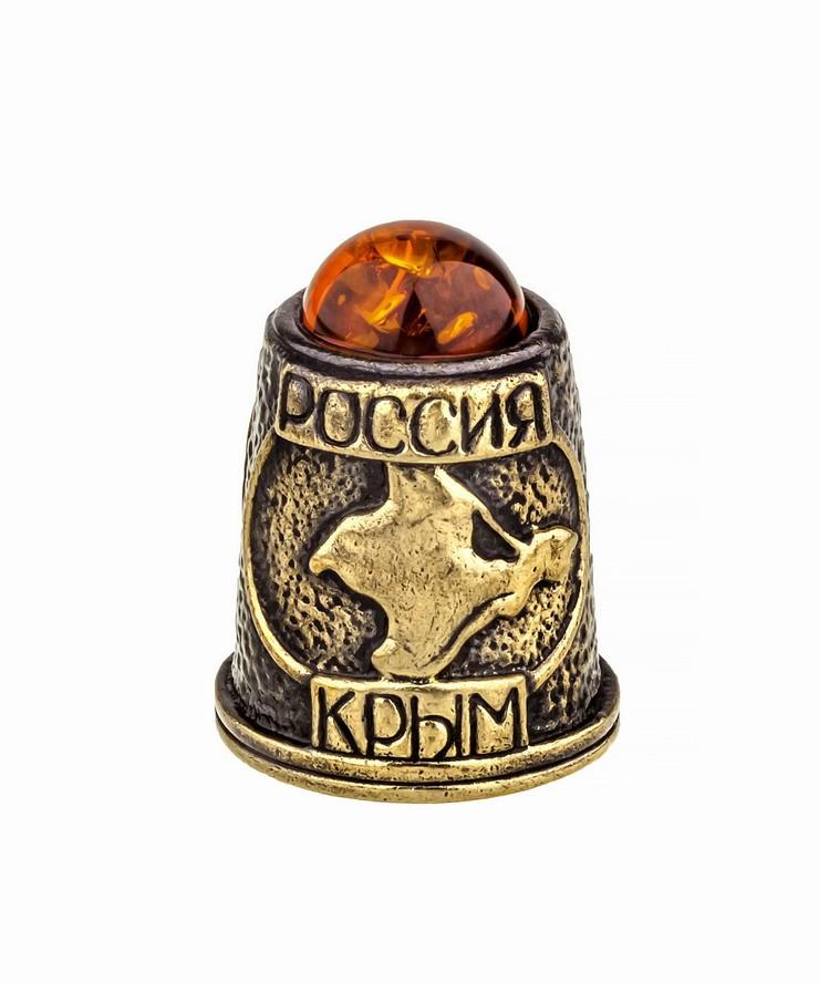 Наперсток Крым-Путин с кабошоном 939
