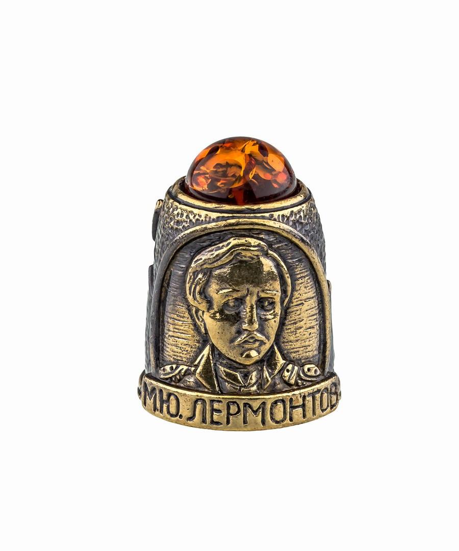 Наперсток Лермонтов М.Ю. с кабошоном 868