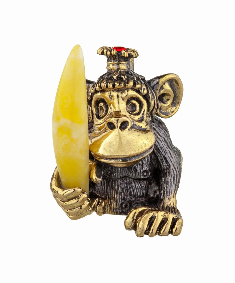 Обезьяна с бананом Лилу без подставки 922.1
