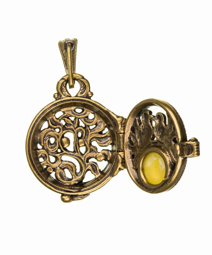 Подвеска Медальон Голубки 596.5