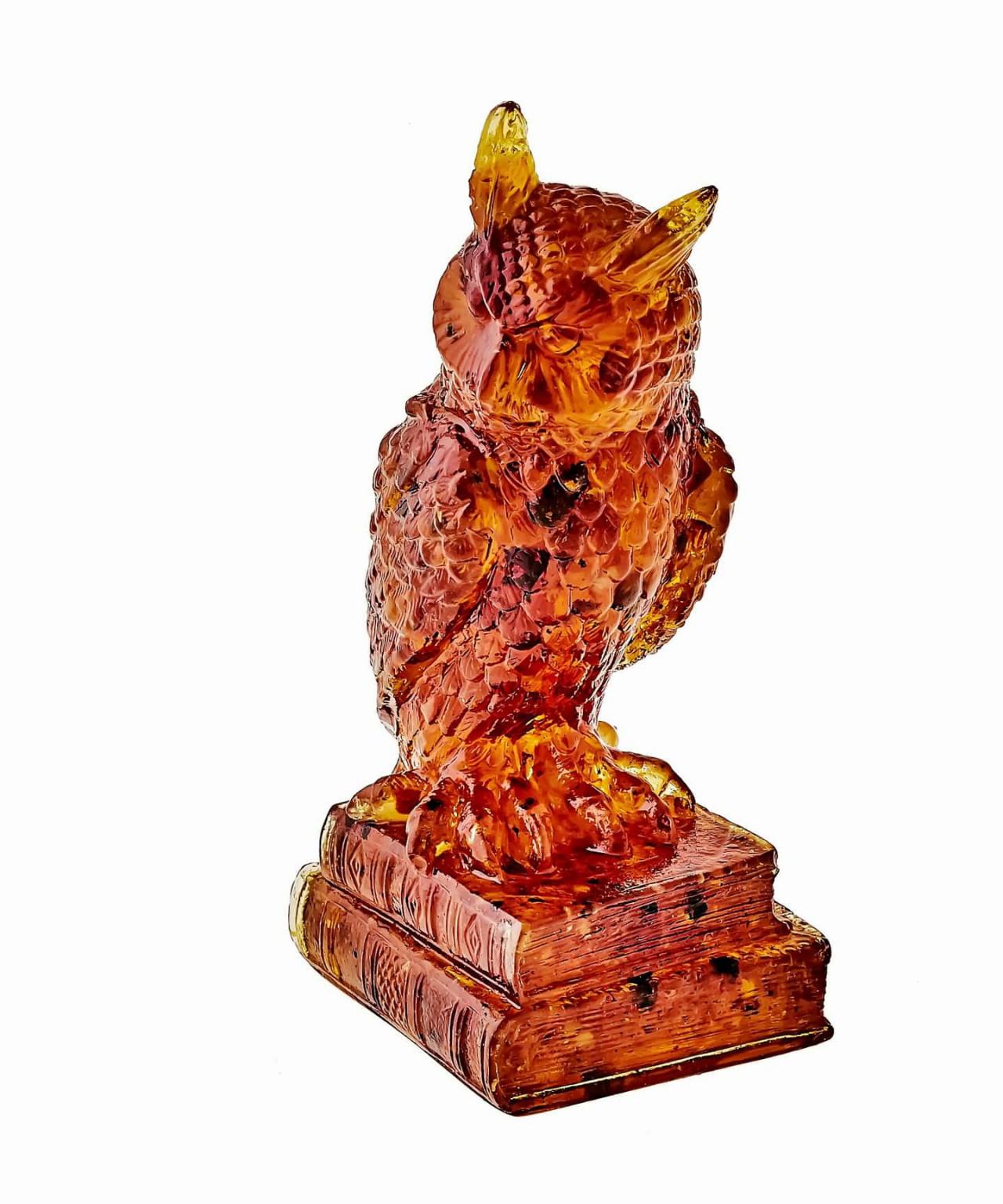 Птица Филин Ученый Янтарный 1392