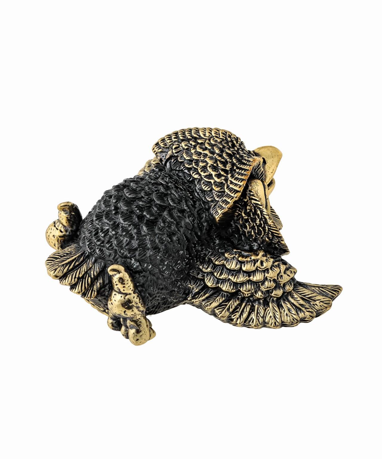 Птица Сова лежащая без подставки 1352 .1