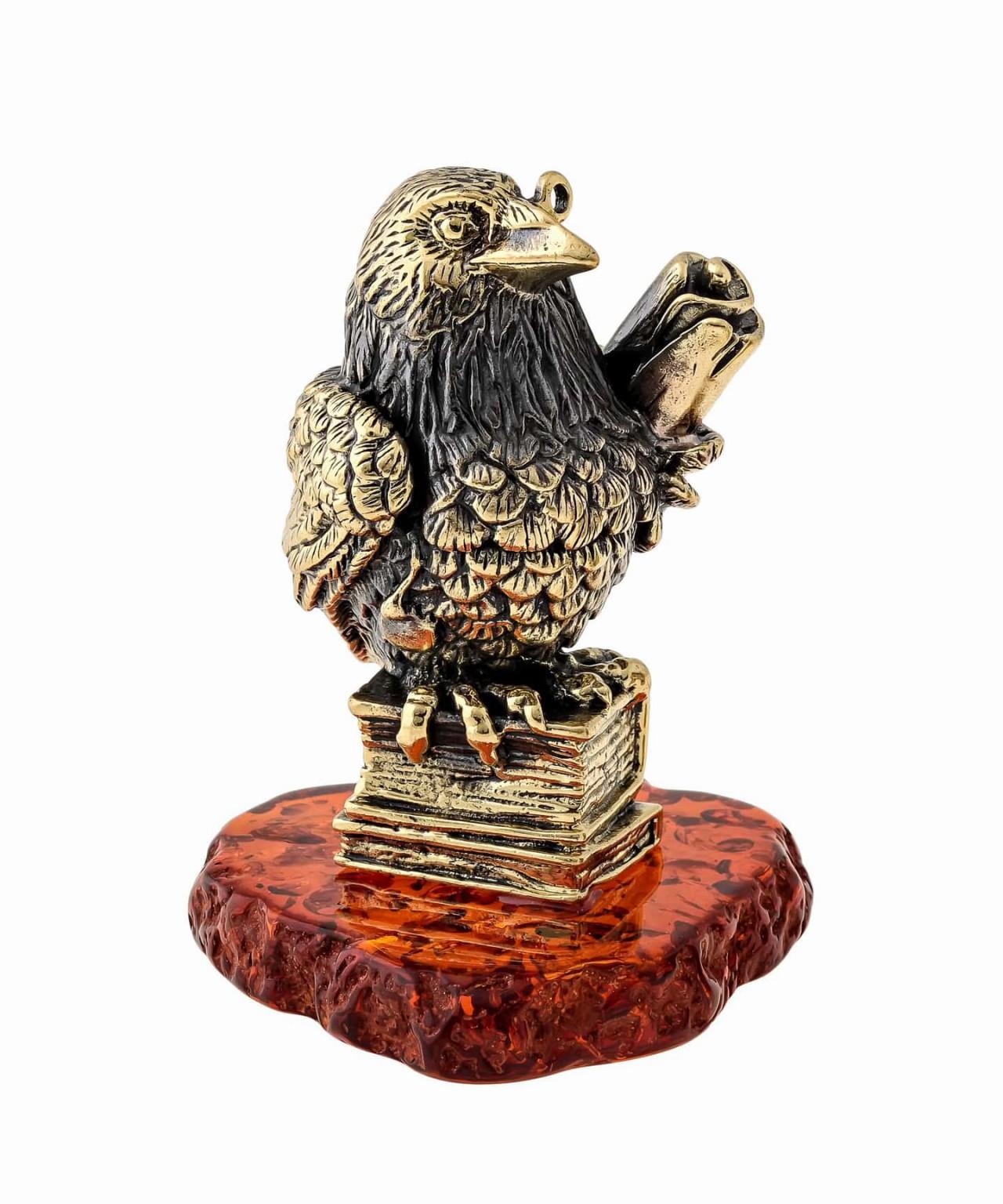 Птица Ворон со свитком 1408