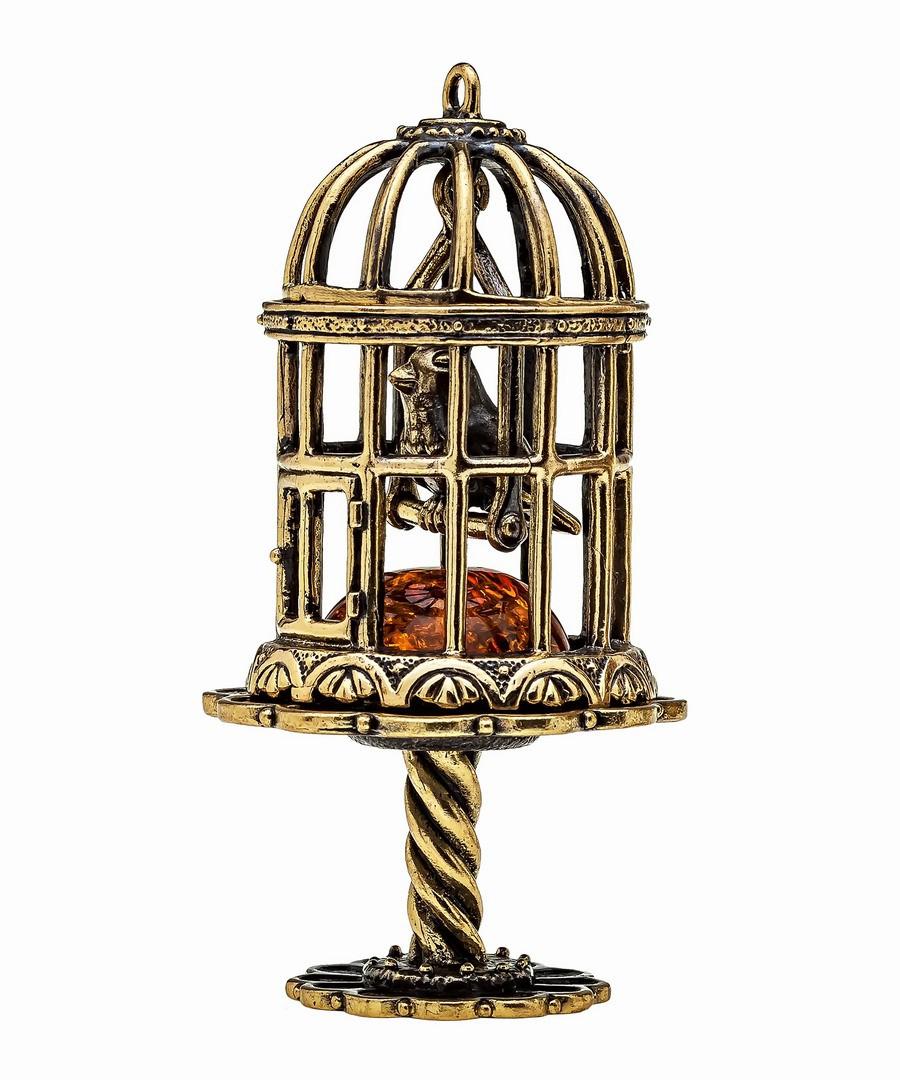 Птичка в клетке без подставки 1123.1