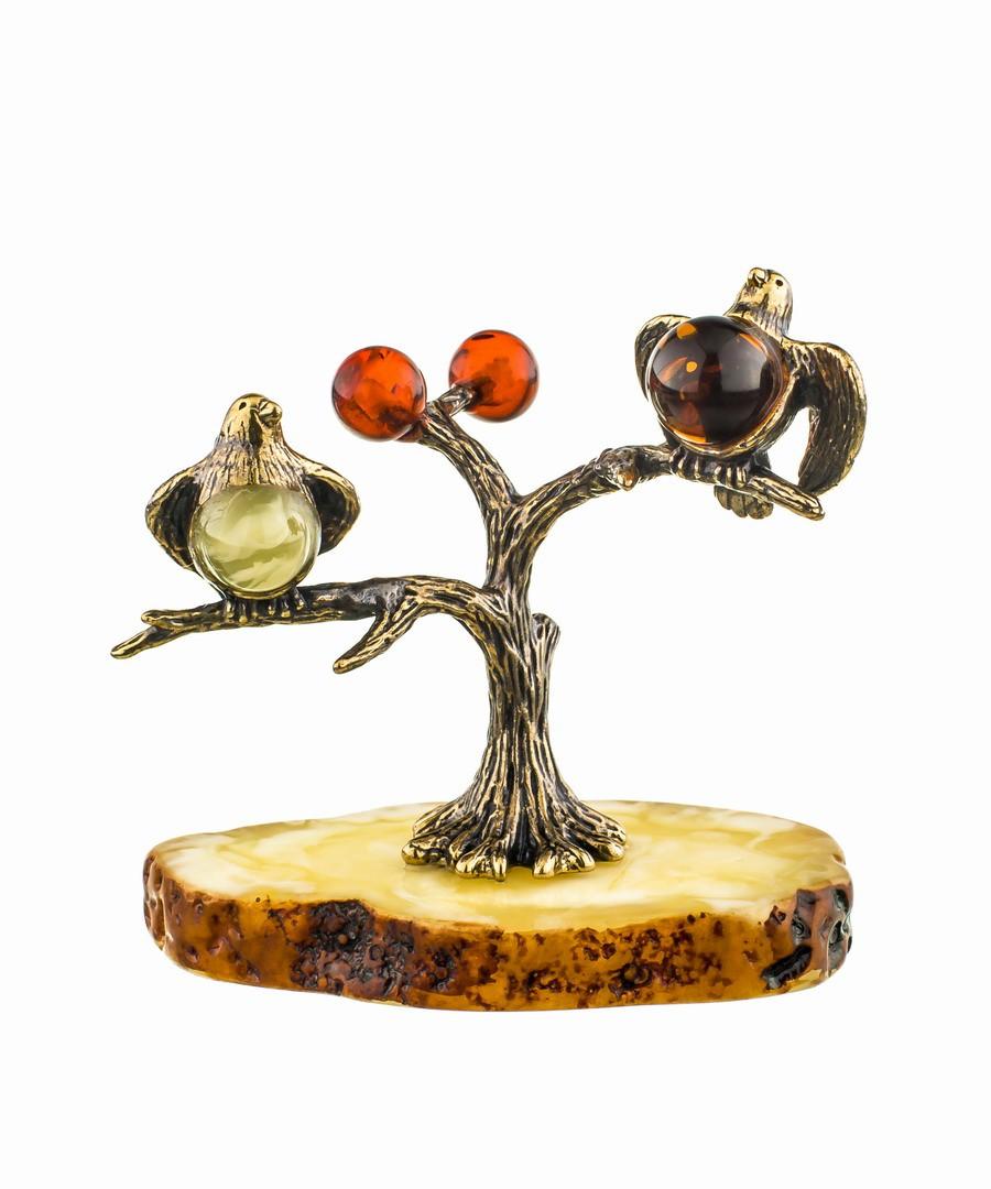Птички-синички на дереве 554