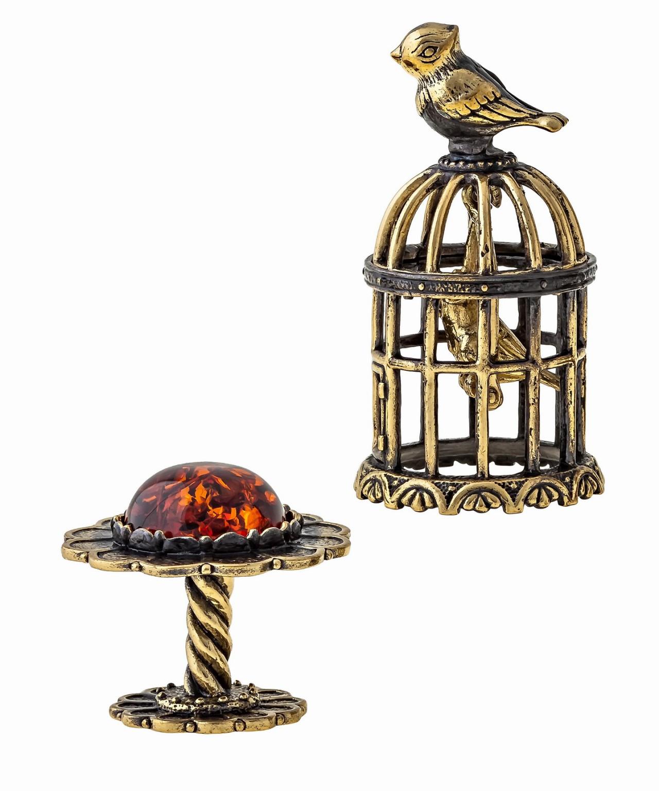 Птички в клетке без подставки 1372.1
