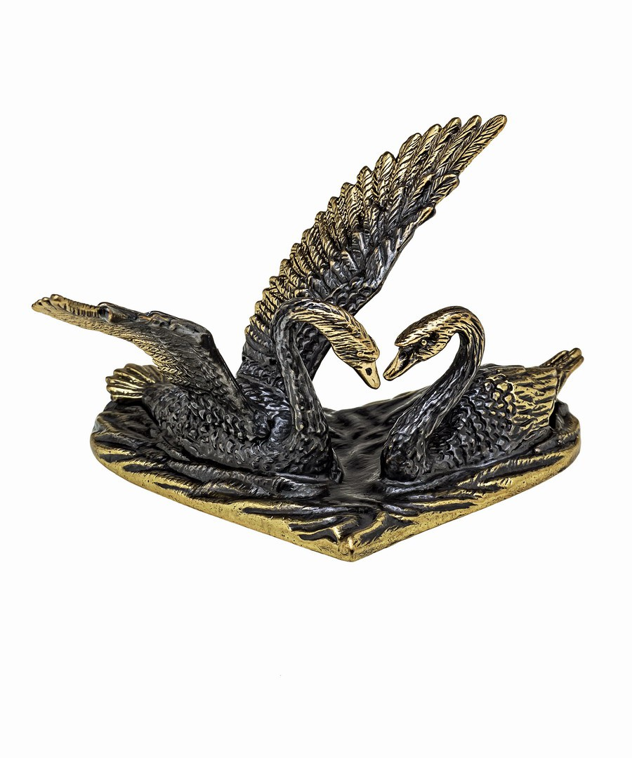 Птицы Лебеди Пара на сердце 1086.1
