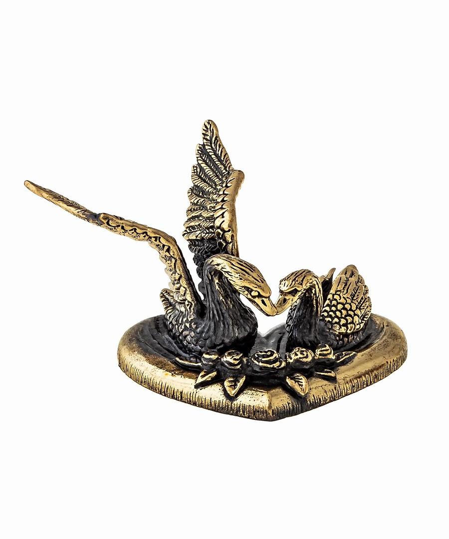 Птицы Лебеди Пара на сердце маленькие 1340.1