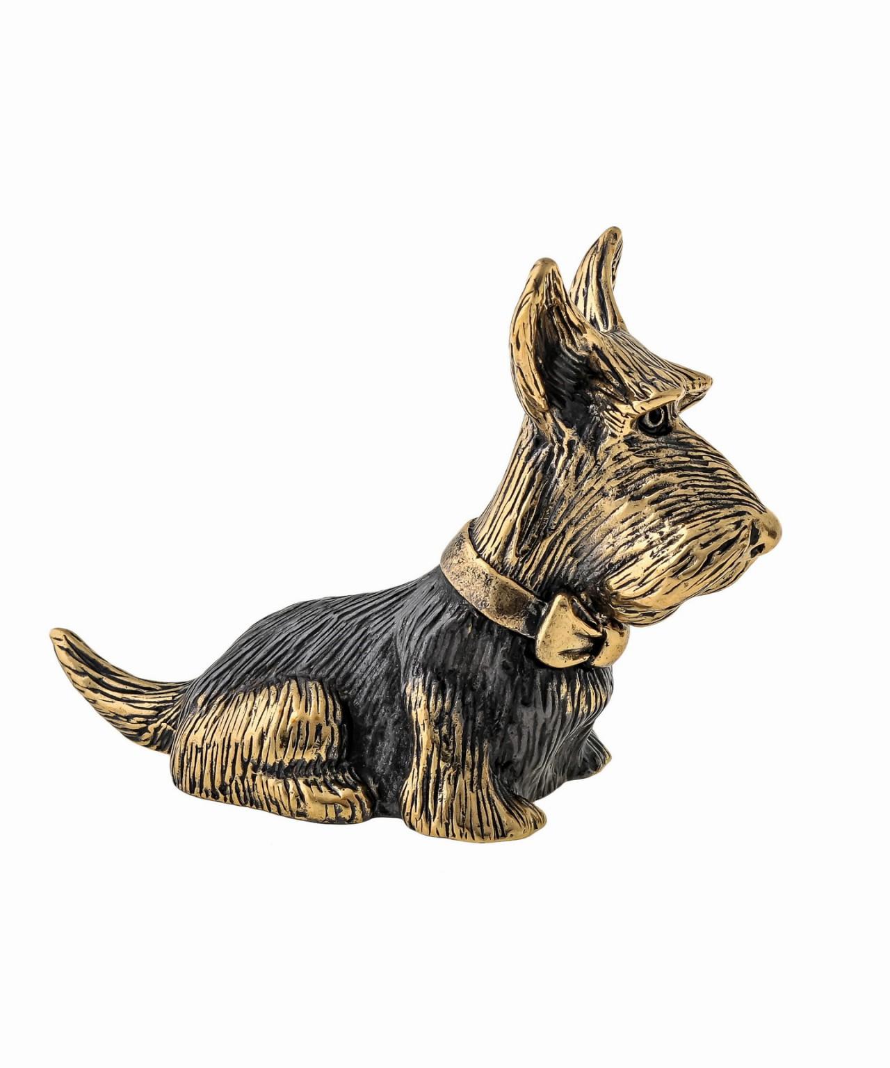 Собака Скотч Терьер с бантиком без подставки 1278.1