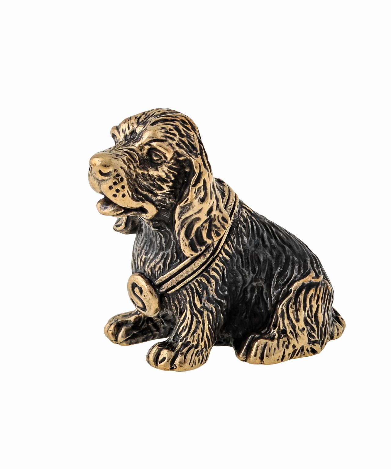 Собака Спаниель в ошейнике без подставки 1047.1