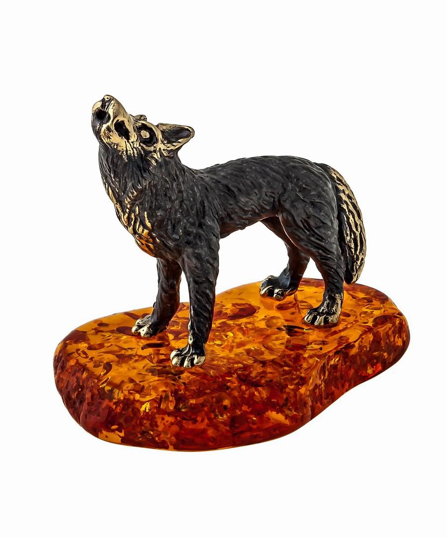 Волк Маленький воющий на луну 1236